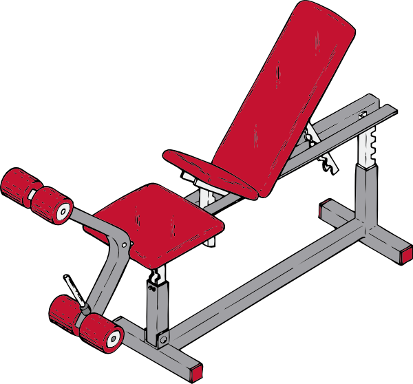 Bench clipart weight lifting Art vector  this Download