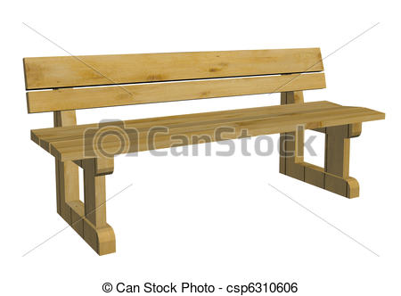 Bench clipart wooden bench Park illustration bench Wooden Illustration