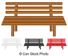 Bench clipart wooden bench Stock on Illustrations bench background