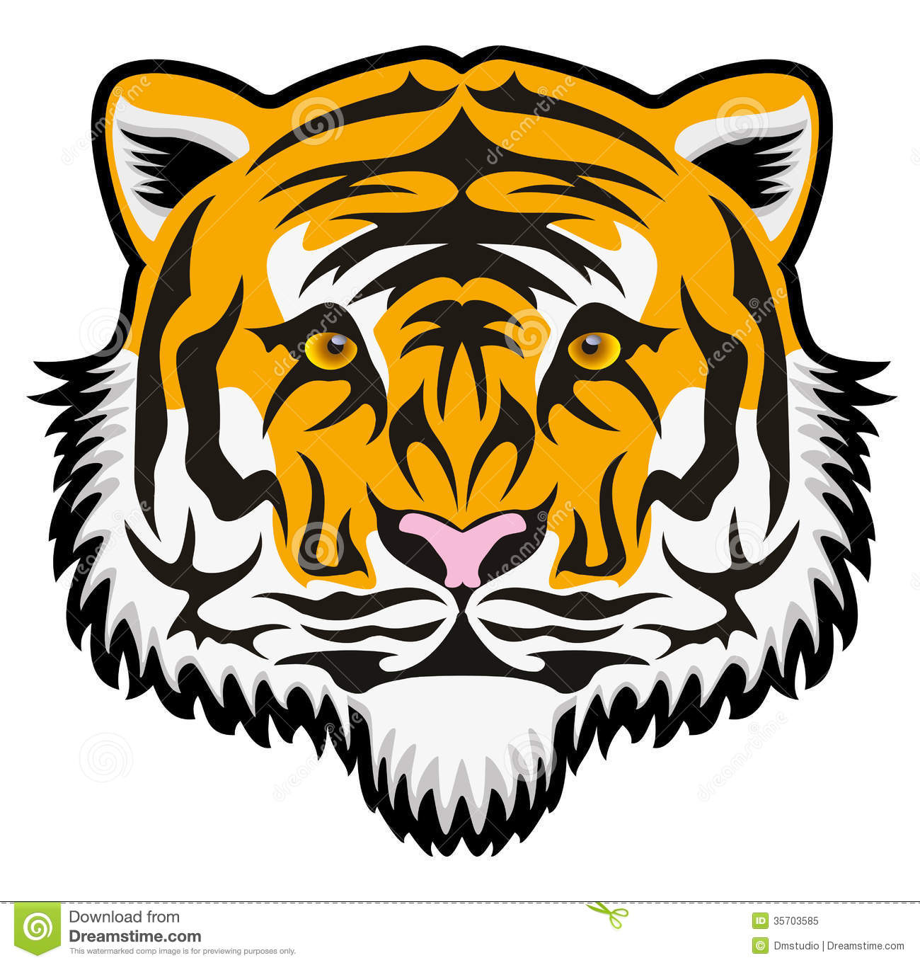 Bengal clipart fierce tiger Bengal Clipart Face Tiger