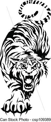 Bengal clipart chinese tiger Csp10938971  Vectors Tiger Illustration