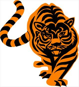 Orange clipart tiger paw Art images about cool best