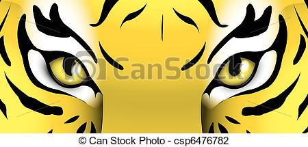 Bengal clipart tiger eyes Of Art a Stock of