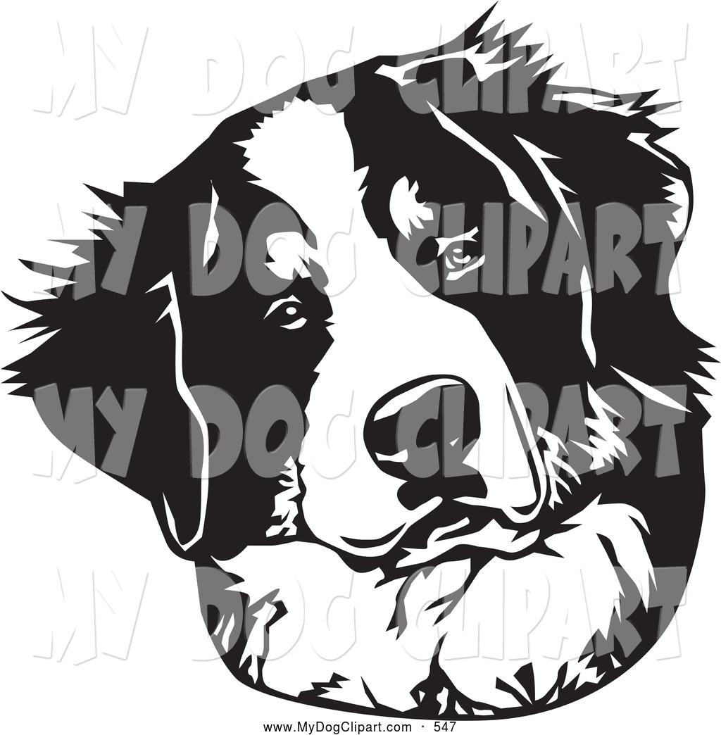 Bernese Mountain Dog clipart head Art Head Dog on Dog