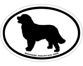Bernese Mountain Dog clipart newfoundland Bernese Dog Decal Vinyl Sticker