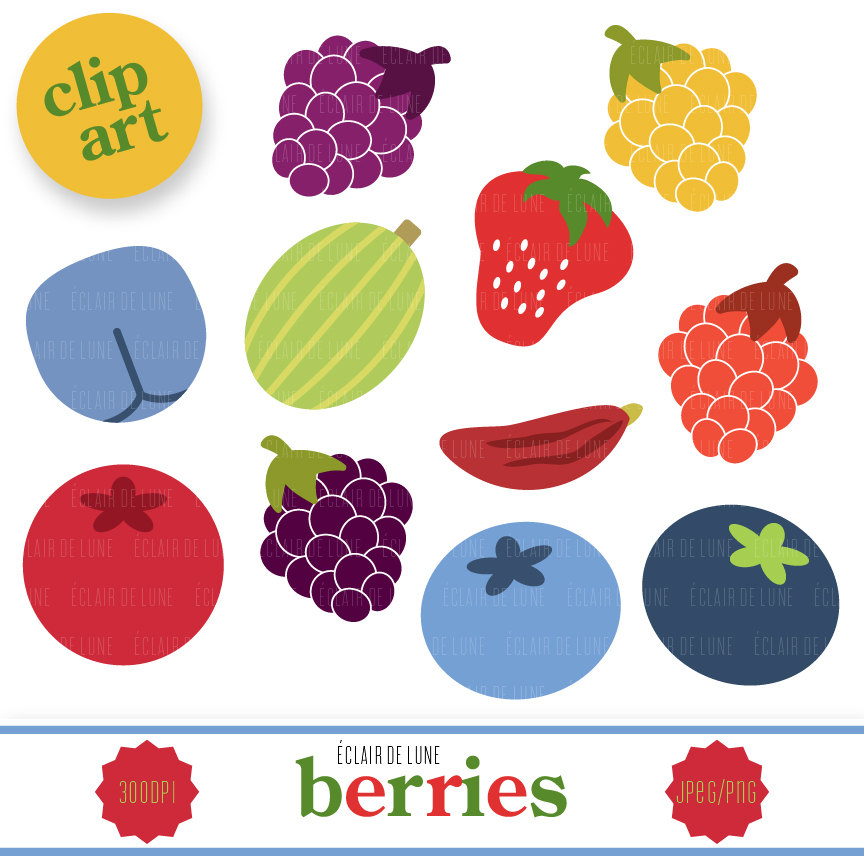 Berry clipart cranberry Etsy Berry EclairdeLune1 This Studio