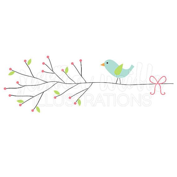 Brds clipart branch #256 Berry Little art Digital