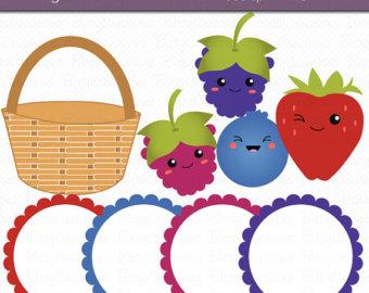 Basket clipart berry Basket Commercial Digital Art DOWNLOAD