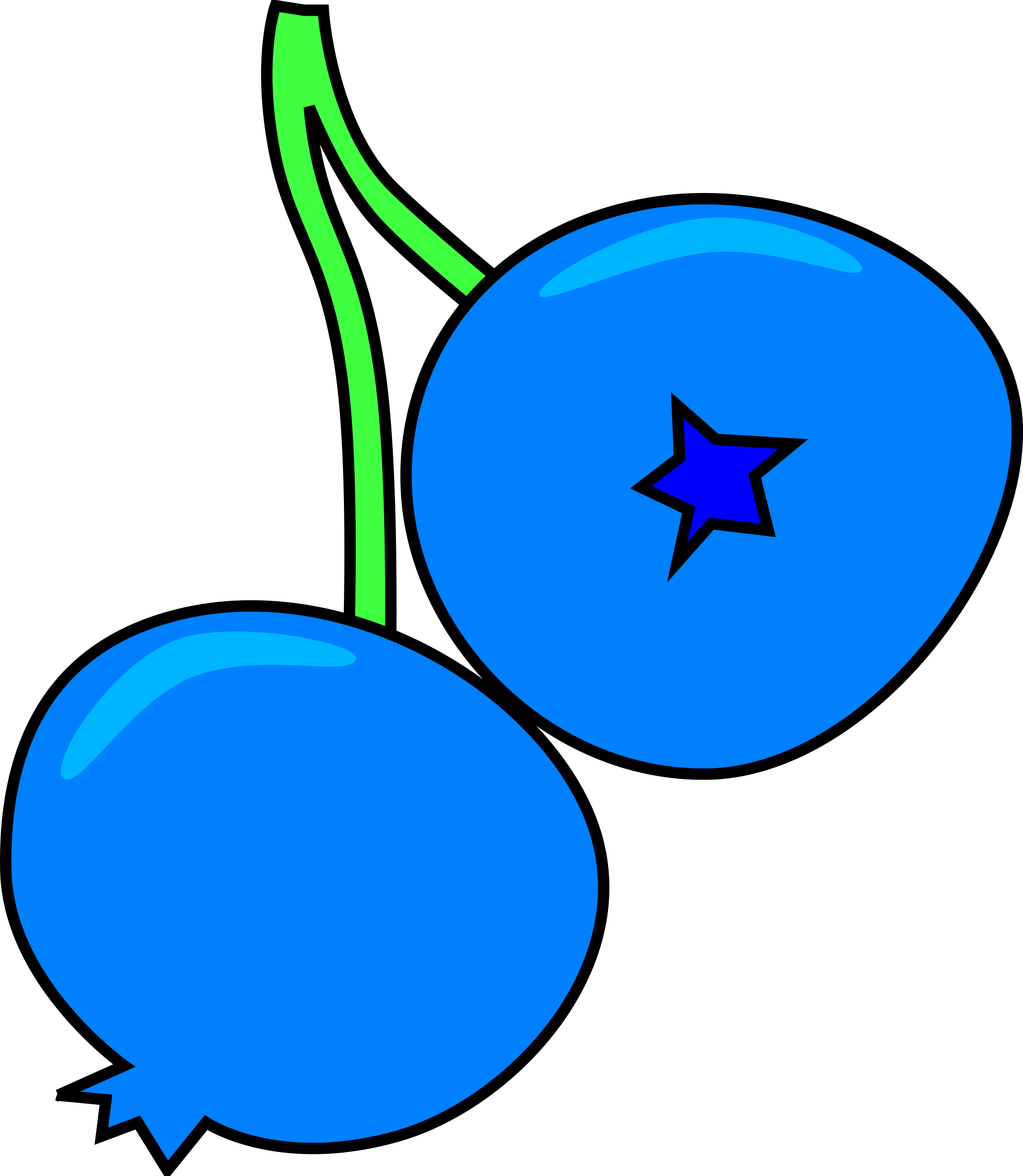 Blueberry clipart single Clipart Blueberry Blueberry