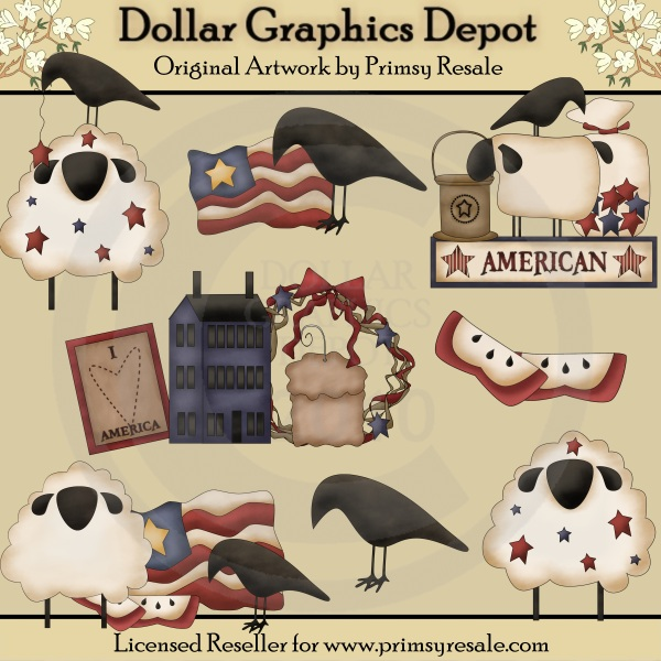 Candle clipart primitive Depot Clip Americana Art Quality