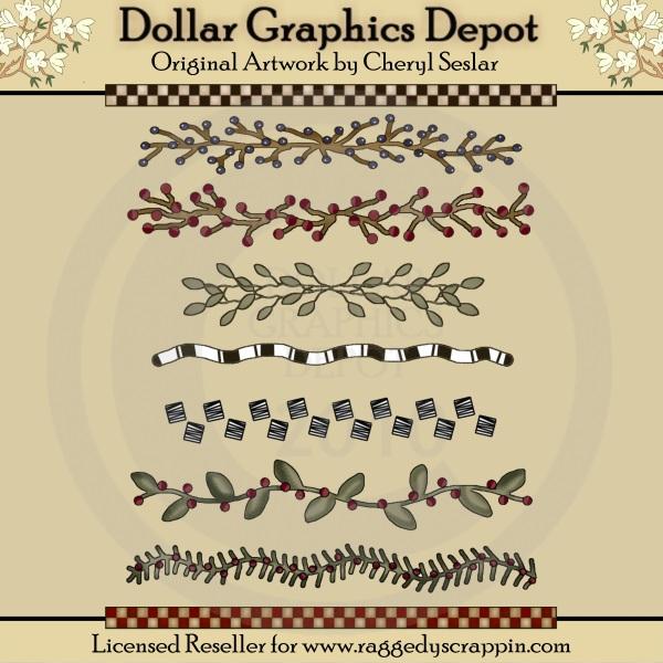 Berry clipart primitive $1 Graphics : Borders