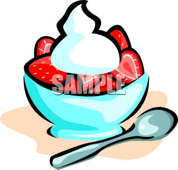 Berry clipart strawberries and cream Topped Strawberries with Clipart Cream