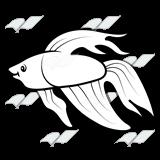 Betta clipart Fish Betta Fish Fish Art