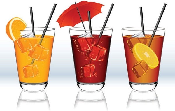 Beverage clipart fruit punch  beverage art Beverage clip