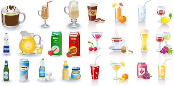 Beverage clipart straw PostScript beverage Encapsulated  Free