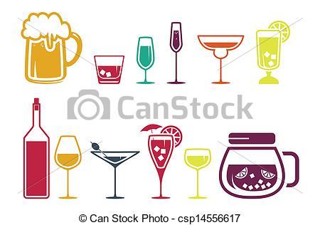 Beverage clipart alcoholic drink Beverage Drink set  of