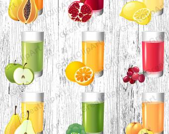 Juice clipart fruit juice #15