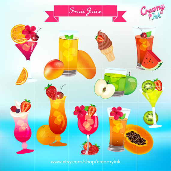 Smoothie clipart beach drink Etsy Cocktail Fresh on Summer