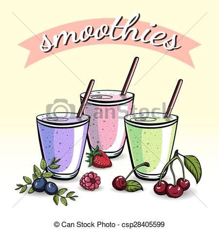 Smoothie clipart beach drink Smoothies smoothies drawn EPS csp28405599