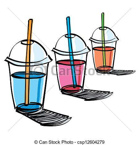 Beverage clipart straw Cup Vector beverage drinking The