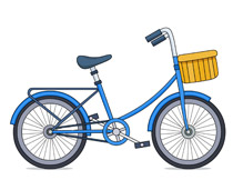 Bicycle clipart #11
