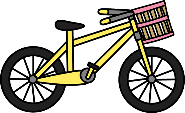 Bicycle clipart weekend activity Basket Clip Bicycle Images Art