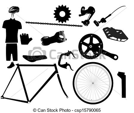 Bicycle clipart bicycle part Parts Clipart  Bike