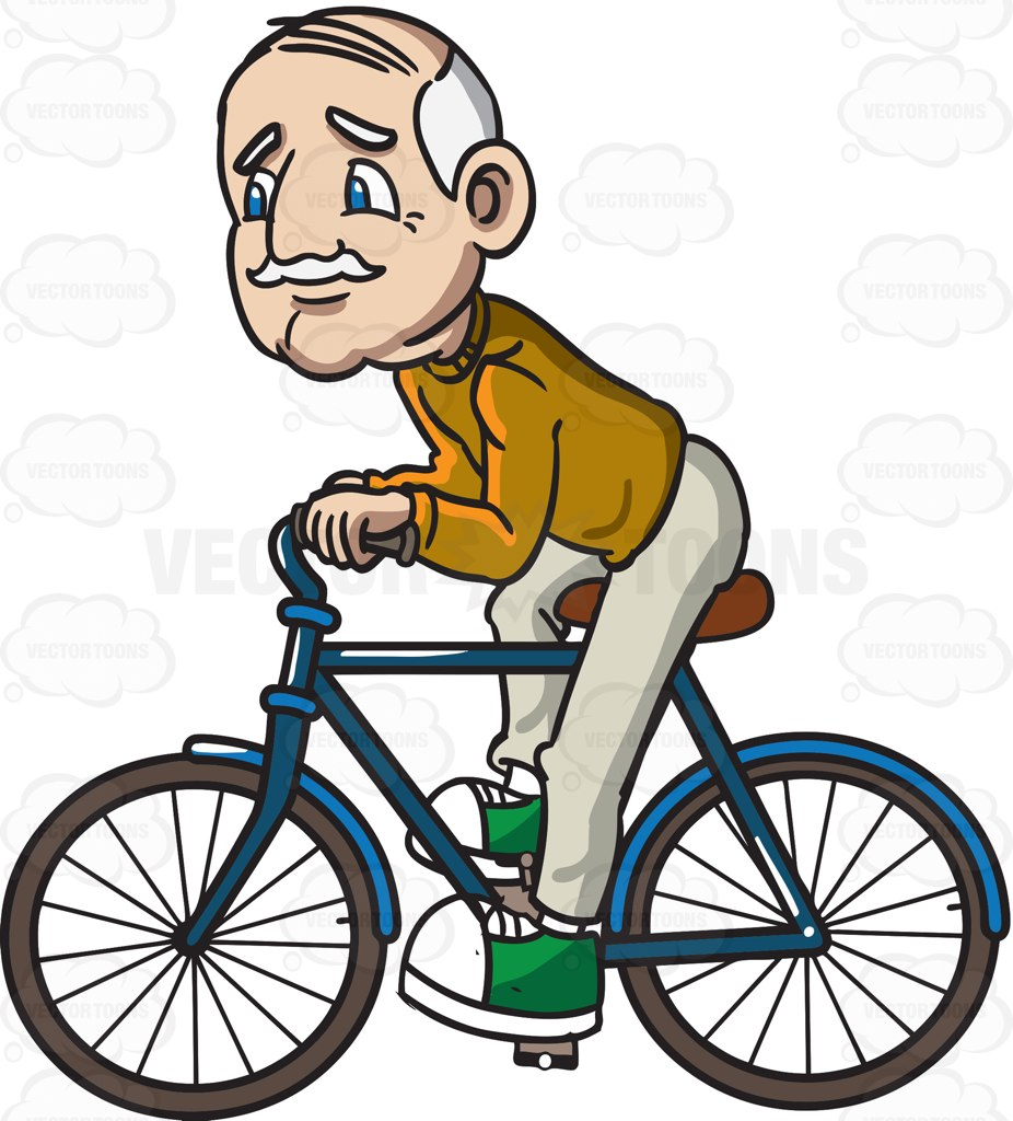 Old clipart retired person A  Riding Grandpa A