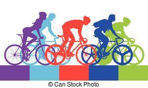 Winning clipart bike race Art cyclist race  Vector