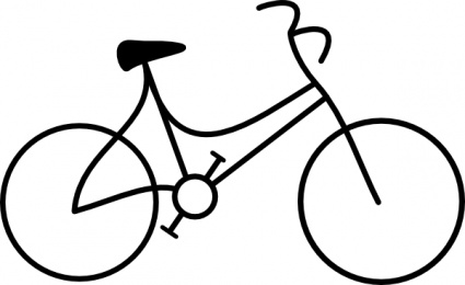 Bike clipart black and white Images Panda White Clipart And