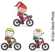 Kids clip Vector  bike