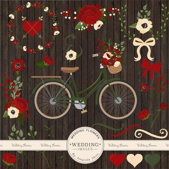 Bike clipart christmas Clipart Christmas Wedding & Bicycle