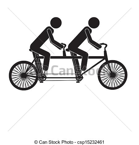 Bicycle clipart double Clipart Tandem clipart