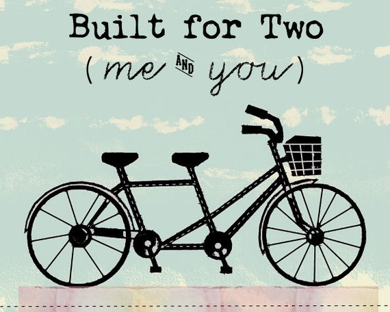 Bicycle clipart double Two Love Bicycle Built And