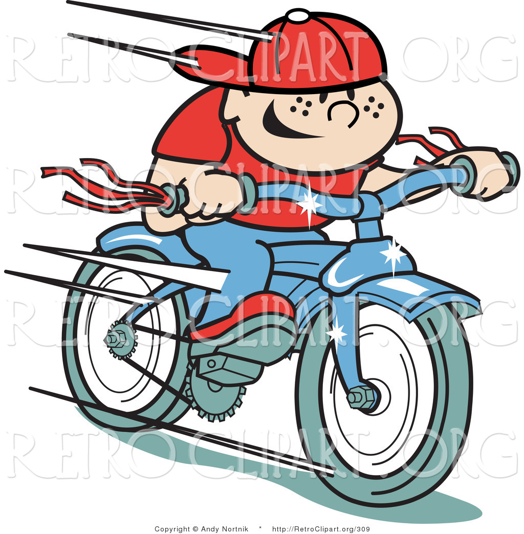 Bicycle clipart downhill Blue Clipart a  Happy