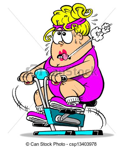 Bicycle clipart exercise Bike background white WBG chubby