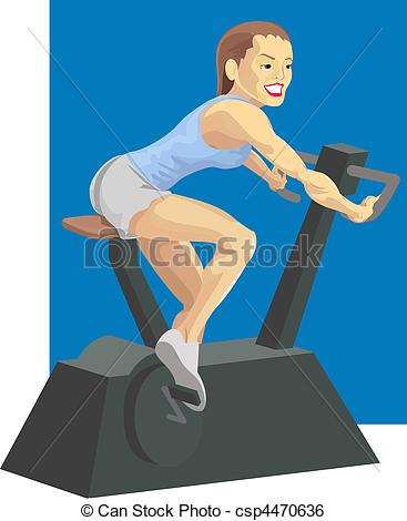 Bicycle clipart exercise Clip woman of a bike