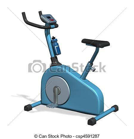 Bicycle clipart exercise Bike exercise of rendered