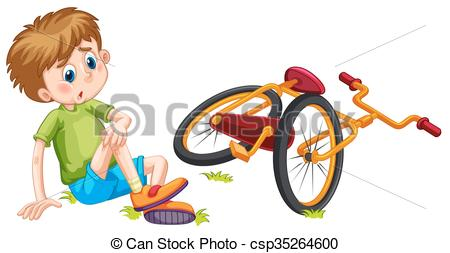 Bicycle clipart fallen Bicycle  bicycle Vector of