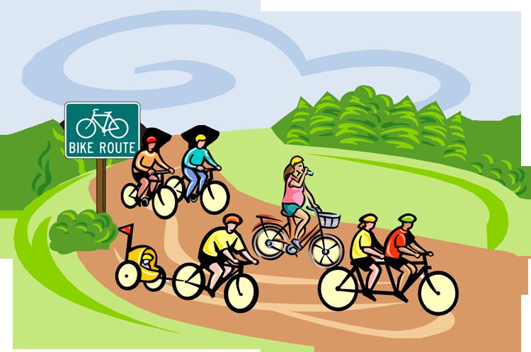 Bicycle clipart family cycling De Tour Arte Le