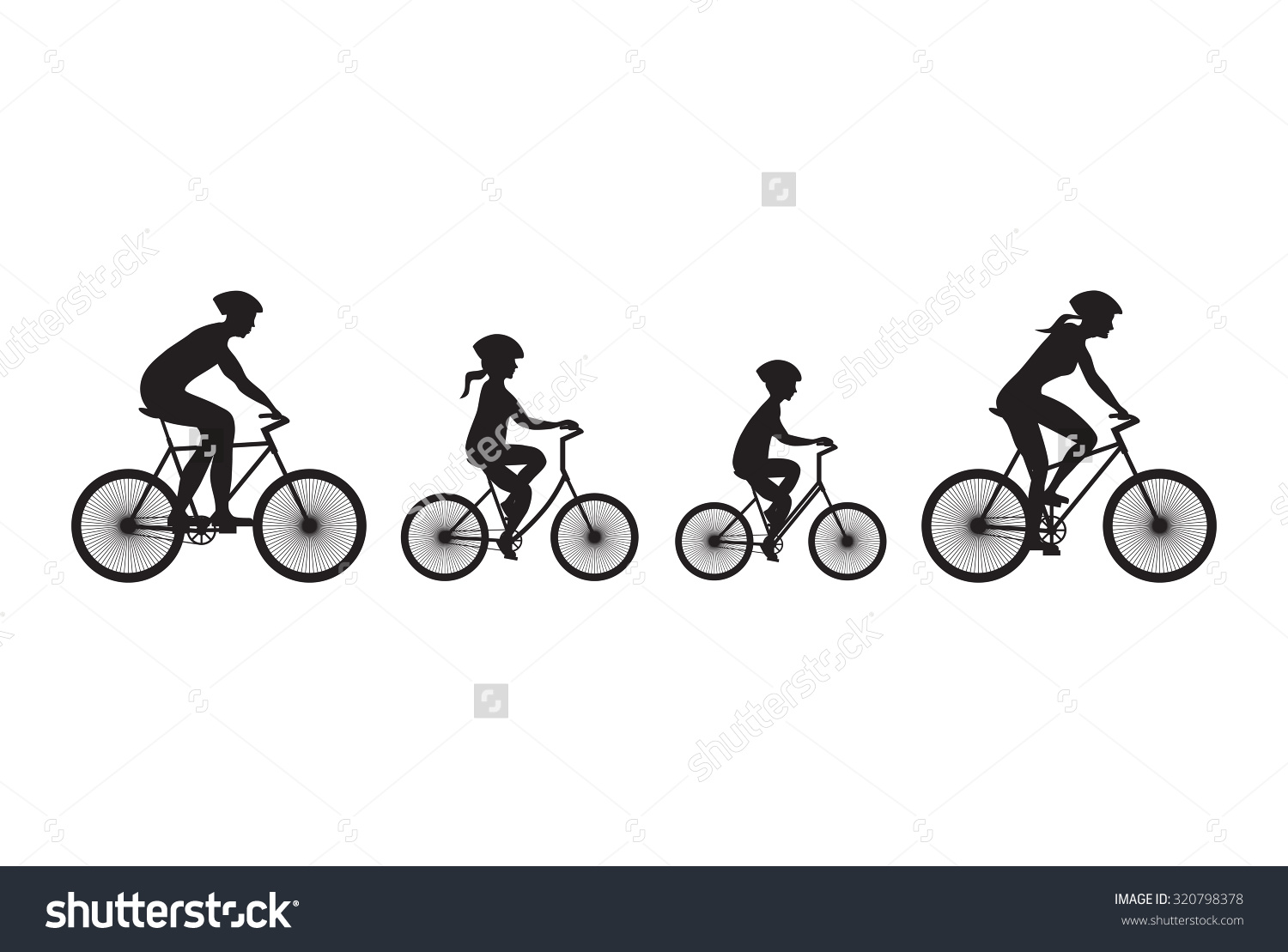 Bicycle clipart family cycling Download Clip Cliparts Free bikes