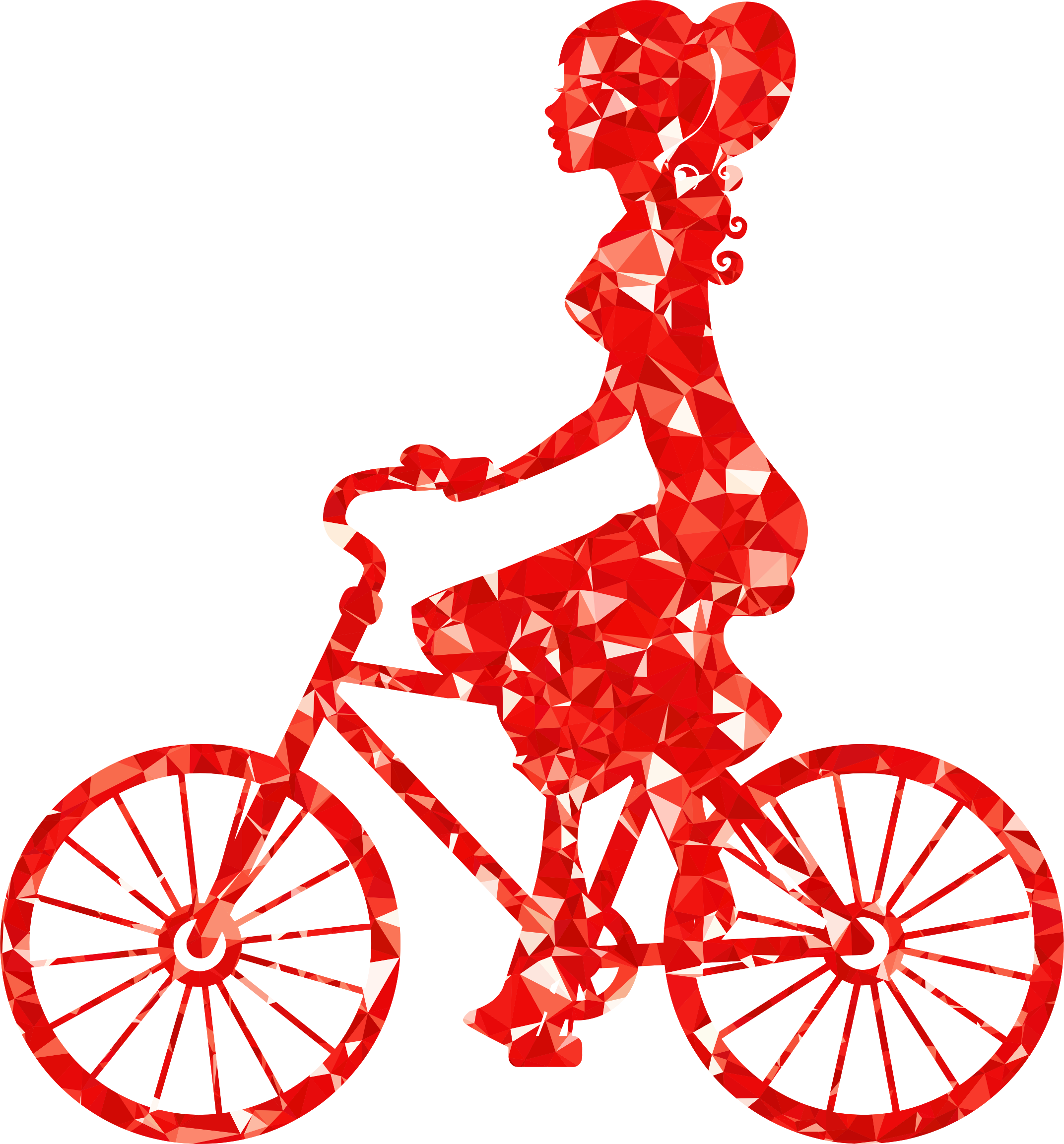 Bicycle clipart female cyclist Clipart Ruby On On Girl