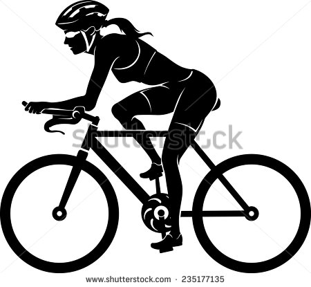 Bike clipart female cyclist Sport drawing cycling  Search