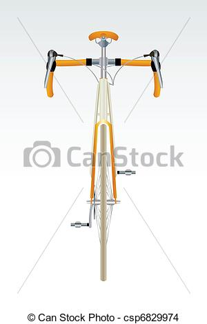 Bike clipart front view Vector view EPS csp6829974 sport