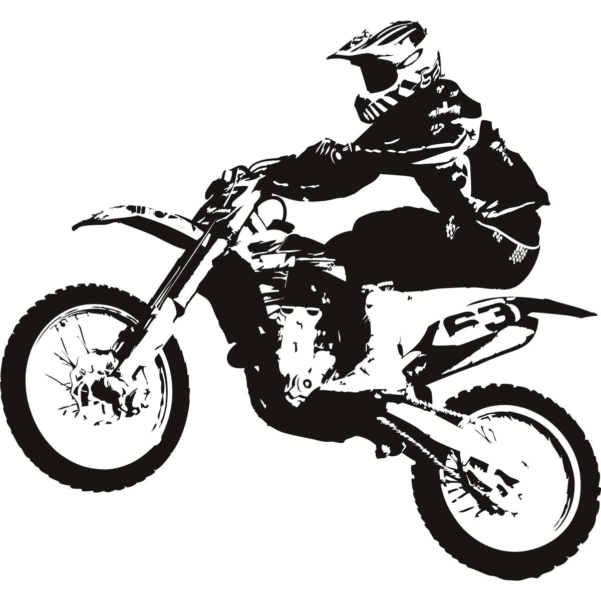 Drawn biker black & white #4