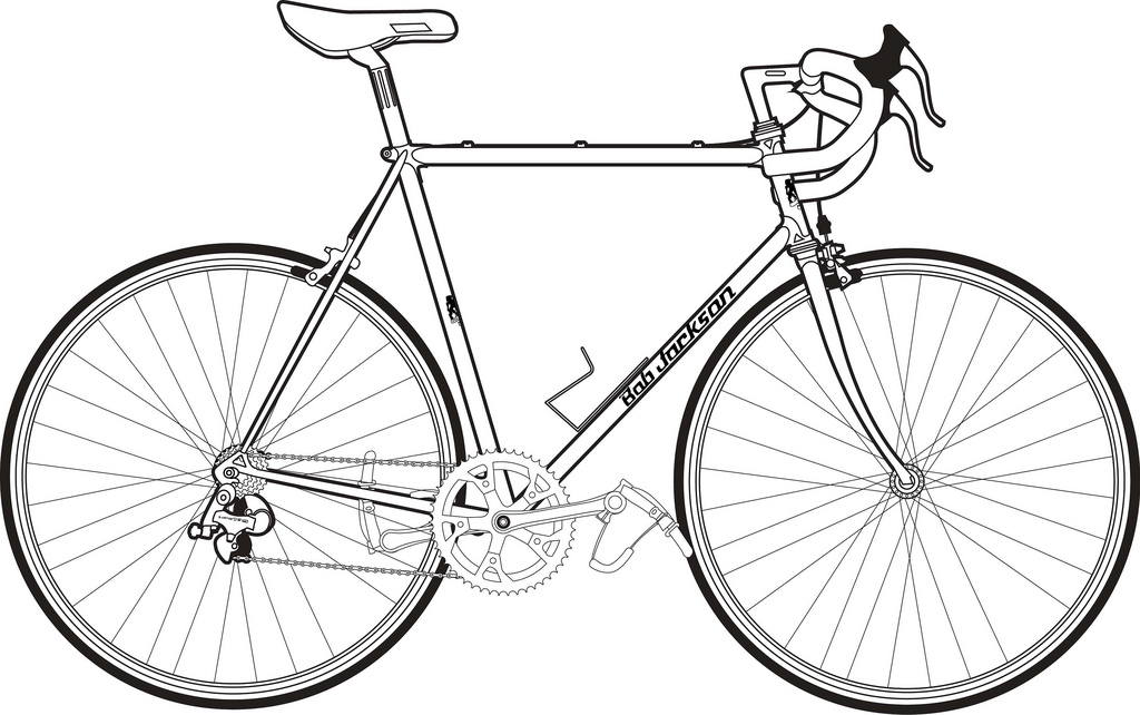 Bicycle clipart line drawing Here's another drawing Bob line