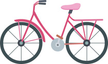 Bicycle clipart pink bike Graphics Free Bicycle Pictures Art