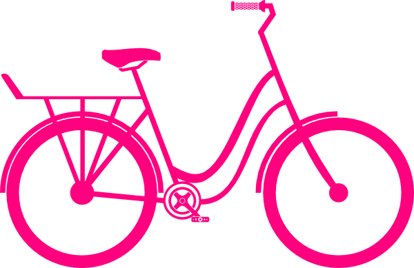 Bicycle clipart pink bike Art Clip Clker clip vector