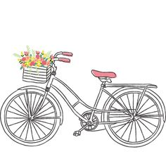 Bicycle clipart pink bike Wall Flower liked featuring decor