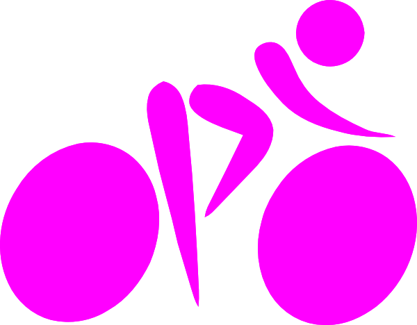 Bicycle clipart pink bike Clip Silhouette at vector com
